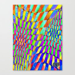 Tumbler #32 Psychedelic Optical Illusion Design by CAP Canvas Print
