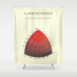 Le Rouge-Orangé (ses diverses nuances combinées avec le noir) Remake Shower Curtain