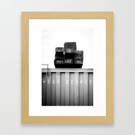 Padstow Container  Framed Art Print