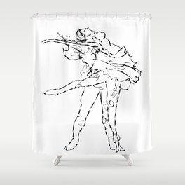 Ballet dancers Tchaikovsky : Swan Lake Shower Curtain
