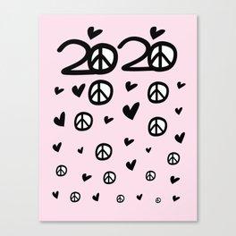 2020 love & peace Canvas Print