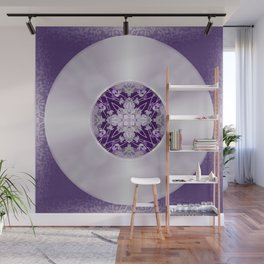 Vinyl Record Illusion in Purple Wall Mural