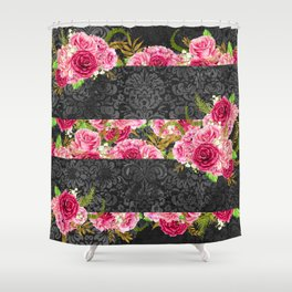 Pink Roses Pattern 10 Shower Curtain