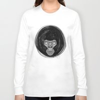 gorilla Long Sleeve T-shirts featuring Gorilla  by dchristo