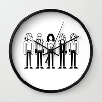 iron maiden Wall Clocks featuring Iron Maiden by Band Land