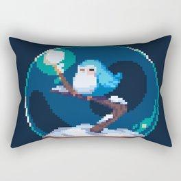 Snow Bird Globe Rectangular Pillow