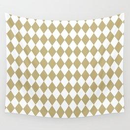 Diamonds (Sand/White) Wall Tapestry