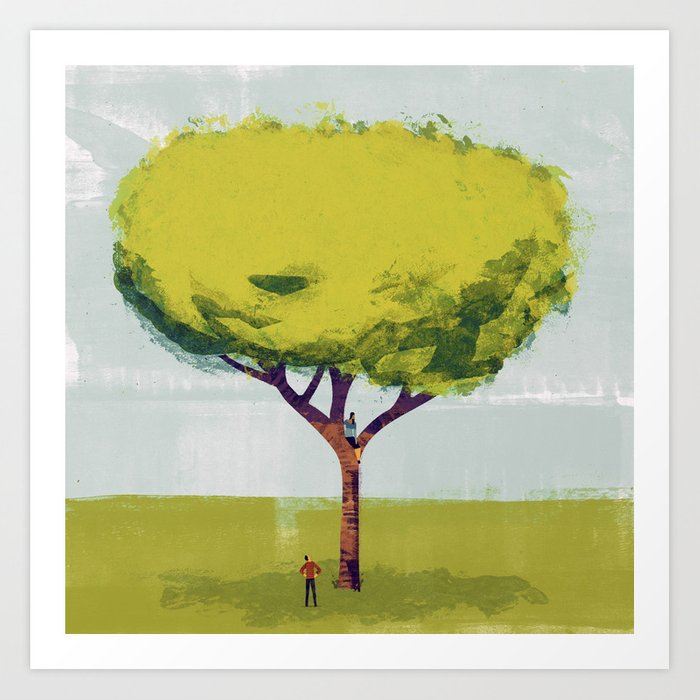 Her Tree Art Print