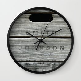 Old wooden box from overseas Wall Clock