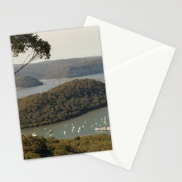 View of Hawkesbury River from Muogamarra Reserve, Sydney Stationery Cards
