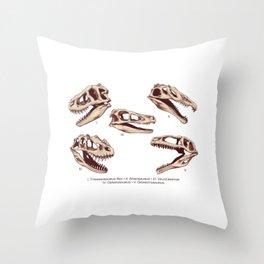 Dinosaur Skulls: Carnivores Throw Pillow