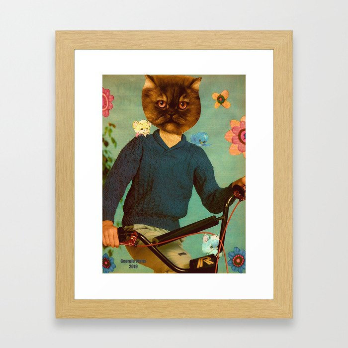 BMX Bandits handcut collage Framed Art Print