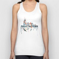 nashville Tank Tops featuring + Nashville Skyline + by BANBAN