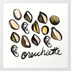 Orecchiete | 100 Days of Cookbook Spots Art Print