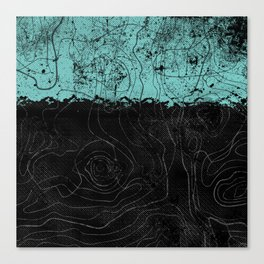Topography Aqua Canvas Print