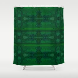 Patterns II Green Shower Curtain