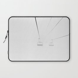 Whiteout Chair Lift Laptop Sleeve