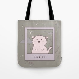 Instant photo cat in space Tote Bag