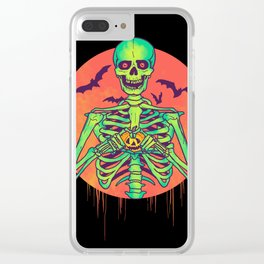 I Love Halloween Clear iPhone Case