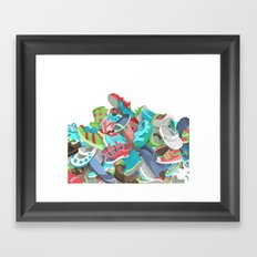 Tons of Shoes Framed Art Print