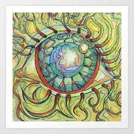Hairy eyeball Art Print