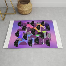 ABSTRACT HALVES Pattern Design Rug