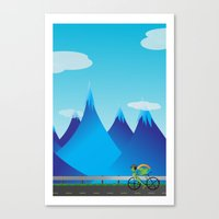 cycle Canvas Prints featuring Cycle by kylecschaeffer