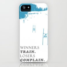 SKI RACING - WINNERS TRAIN LOSERS COMPLAIN - BLUE Slim Case iPhone (5, 5s)