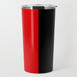 Psychedelic black and red stripes VII. Travel Mug