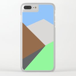 Road to the snow Clear iPhone Case