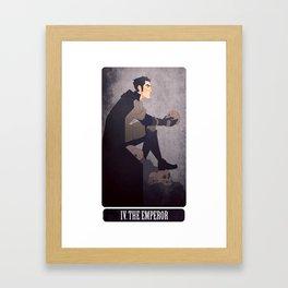 tarot - the emperor. Framed Art Print