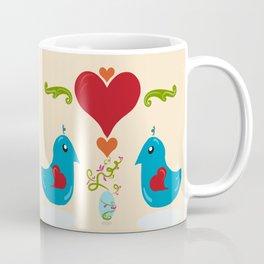 Kawaii Folk Art Birds Coffee Mug