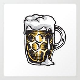 A Beer Mug Art Print