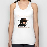 clint eastwood Tank Tops featuring Clint Eastwood by Mr. Stonebanks
