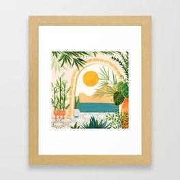 Villa View Framed Art Print