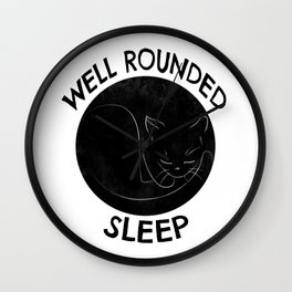 Well Rounded Sleep Wall Clock