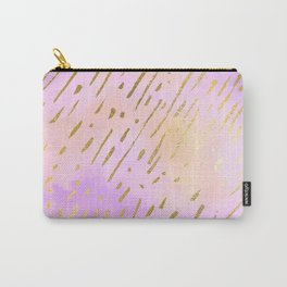 Pastels In Gold Stipes Carry-All Pouch