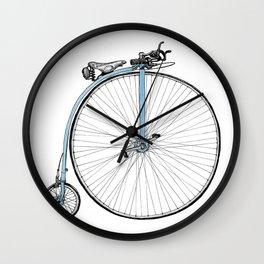 Blue Penny Farthing Wall Clock