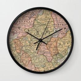 Vintage Map of Northern Ireland (1883) Wall Clock