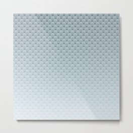 Gray blue geometric pattern Metal Print