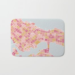 Colorful Vancouver map Bath Mat