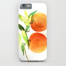 Watercolor oranges Slim Case iPhone 6s