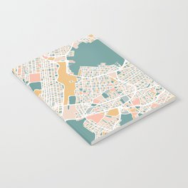 Manhattan New York Map Art Notebook