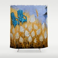 couple Shower Curtains featuring COUPLE by Olga Krokhicheva