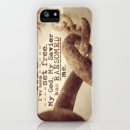 Chains are gone iPhone Case