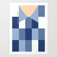 forrest gump Art Prints featuring Forrest Gump - Minimalist movie poster by Kate Syska Design