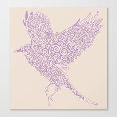 Flight in Swirls Canvas Print