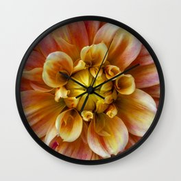 Glass Castle Dahlia Wall Clock