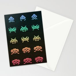 Invader Space Stationery Cards