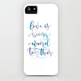 Love is being weird together | Blue Palette iPhone Case